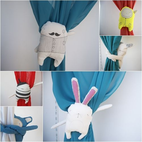 Curtain huggers - 2 x bunnies for Rosie, 1 x Ron Weasley and 1 x Harry Potter for Cam, 1 x Luna Lovegood and 1 x Remus Lupin : )