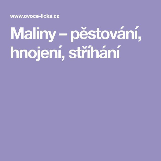 Maliny – pěstování, hnojení, stříhání