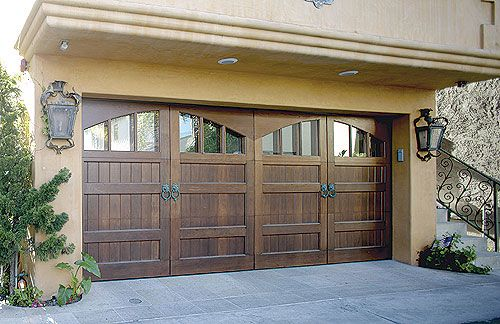 78 best images about home exteriors on pinterest dark for Best wood for garage doors