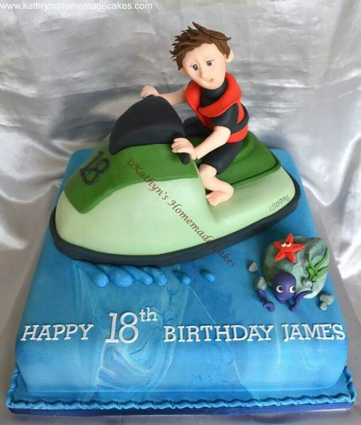 Jetski Birthday Cake Beach And Sea Cakes Pinterest