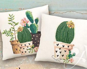 Para imprimir imágenes digitales hojas de cactus 2 para imprimir sobre tela o papel, hierro en la transferencia de para almohadas de bolsas camisetas, decoración del arte de la pared