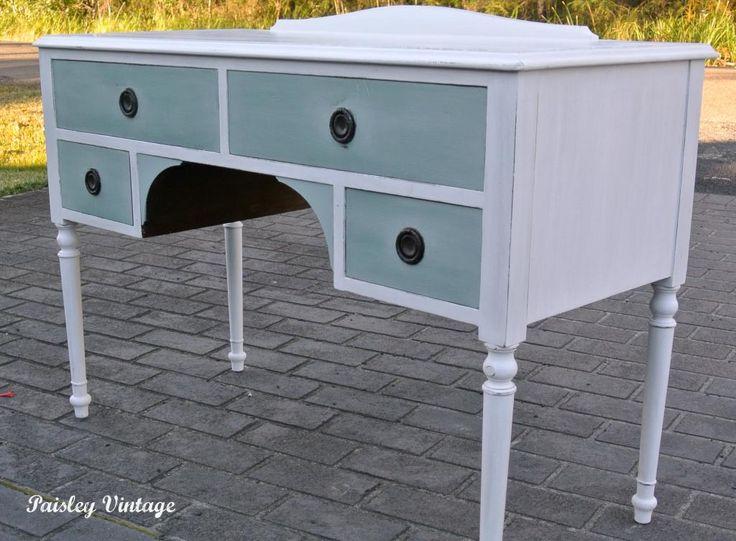 vintage vanity desk paisley vintage - Vanity Desk Ideas