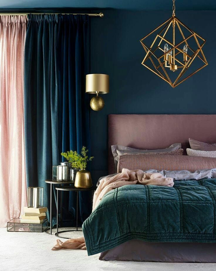 Teal Bedroom