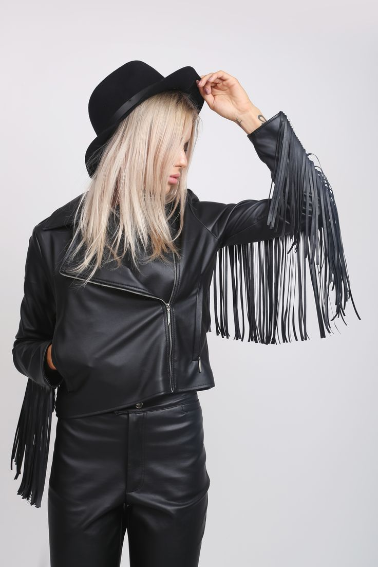 Fringed Eco Leather Jacket! http://www.noire.ro/categorie-produs/jachete/jachete-jachete/