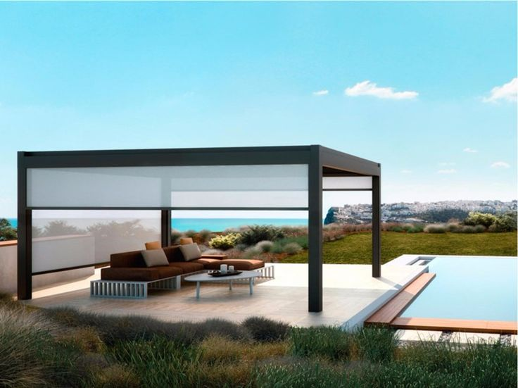 Freestanding aluminium pergola NOMO Pergolas Collection by PRATIC F.lli ORIOLI