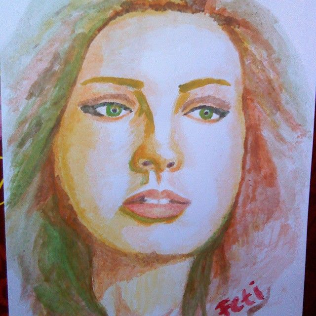 2nd try, still impatient to mix the colors.. -_- #water_color #learn_to_paint #insta_art #fine_art #painting #fetixuyan16