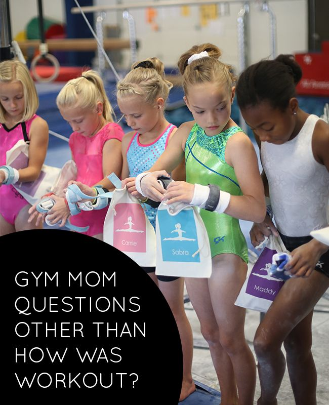 I don't have a gymnast, but relevant/adaptable for any sport!  25 Questions to ask your gymnast, other than how was workout? |