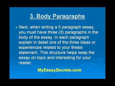 easy way to write a 5 paragraph essay (april 2014) (learn how and when to remove this template message) the five- paragraph essay is a format of essay having five paragraphs: one introductory   then a sentence quoting the text, supporting the essay-writer's claim, would.