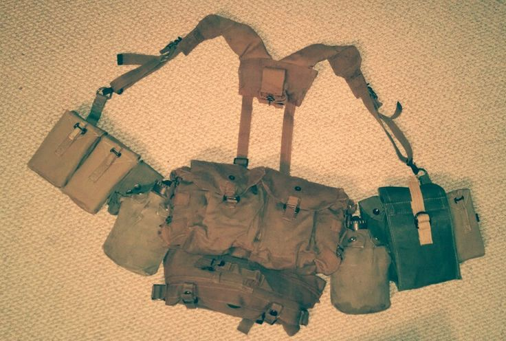 Rhodesian mixed webbing kit - Comprised of Pattern 61/64 and Pattern 69 components.