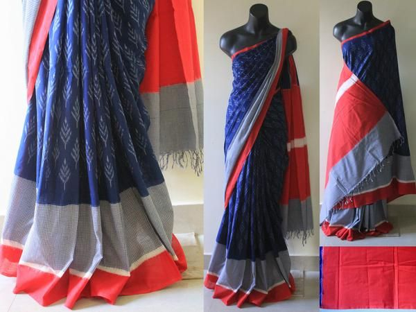 Ikat cotton sarees