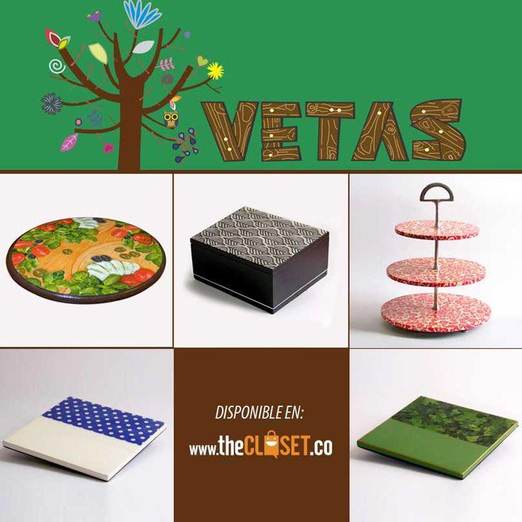 VETAS, diseño en Madera. Conoce todos sus productos para hogar. encuentra más en www.thecloset.co