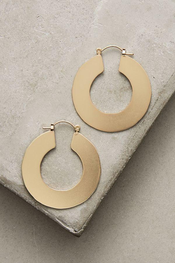 Anthropologie Seattle Hoop Earrings