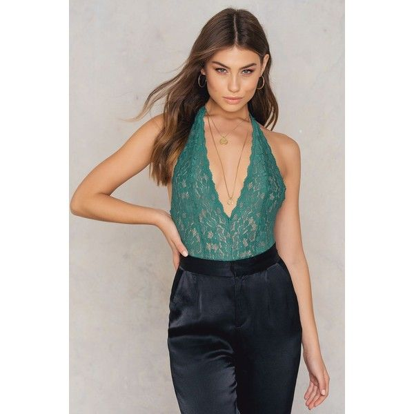 Free People Avery Bodysuit (€60) ❤ liked on Polyvore featuring intimates, shapewear and green