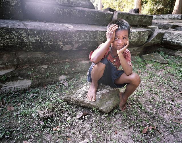 mamiya 7 / 43 - Cambodia #9 - diving kid by zane, via Flickr