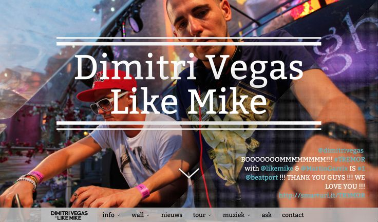 Dimitri Vegas  Like Mike Website Project Artevelde Hogeschool