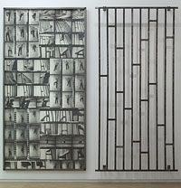 Gina Pane, Action Escalade non-anesthésiée, avril 1971 Photographies noir et blanc sur panneau en bois, acier doux, 323 x 320 x 23 cm Photog...