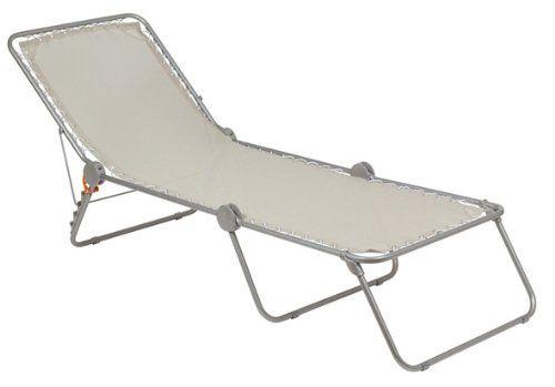 Lafuma Sonnenliege, klappbar mit verstellbarem Rückenteil, Siesta L, Seigle (Grau), LFM2293-1685 Lafuma