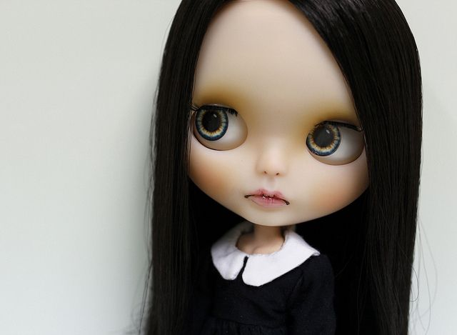 This is the 1st thing that came to mind when I 1st saw one of these dolls! Wednesday Addams :)
