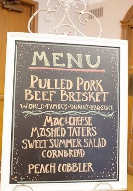 Once I have my menu nailed down, I'd love have somebody make this!! ..Somebody with great handwriting.