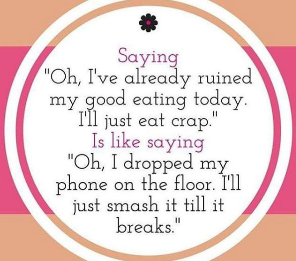 Don't ruin your healthy eating over one bad meal. Everything in moderation, just start fresh from the next meal.