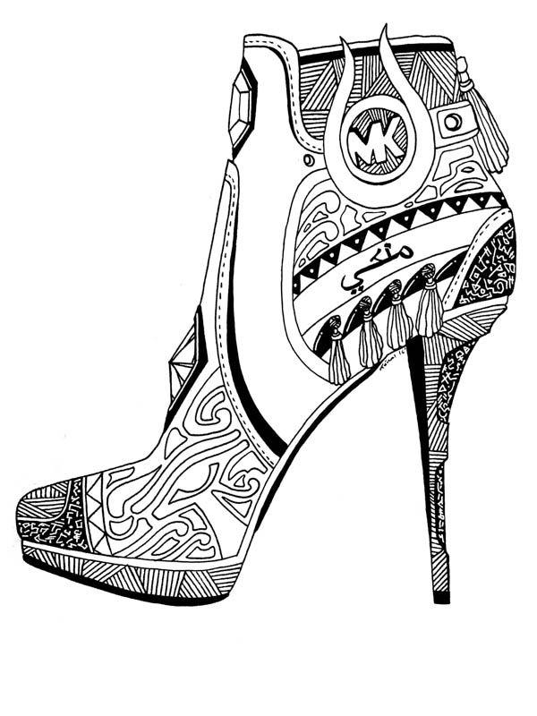 Michael Kors Shoes Drawing Art Illustration