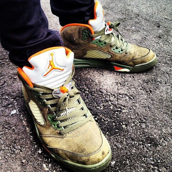 Air Jordan 5 Olive Army