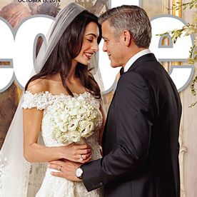 Finally! See the Exquisite Wedding Dress Amal Alamuddin Wore to Marry George Clooney  #InStyle