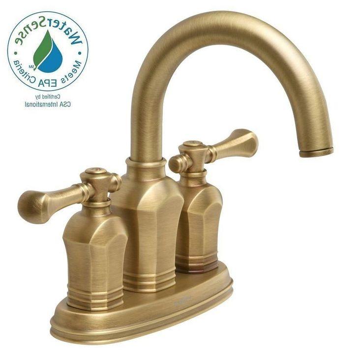 Pegasus Verdanza 4 In Centerset 2 Handle Bathroom Faucet In From Antique  Brass Bathroom Fixtures