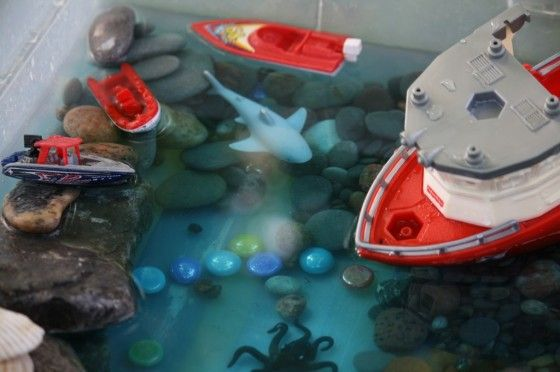deep blue sea bin - easy to set up; the kids play with this for hours at a time