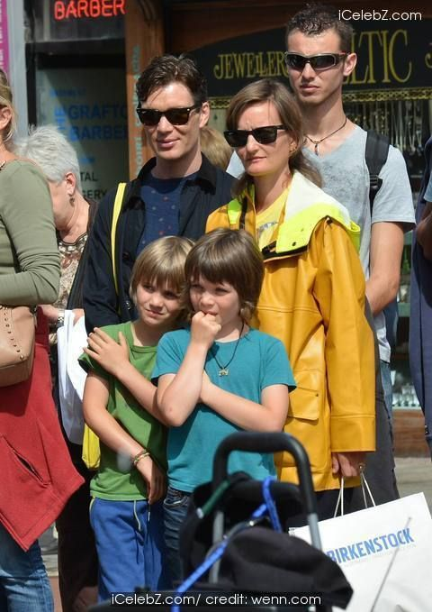 Cillian Murphy wife Yvonne and their sons Malachy and Aran watch break-dance buskers Dublin City BBoys on Grafton Street http://icelebz.com/events/cillian_murphy_wife_yvonne_and_their_sons_malachy_and_aran_watch_break-dance_buskers_dublin_city_bboys_on_grafton_street/photo1.html