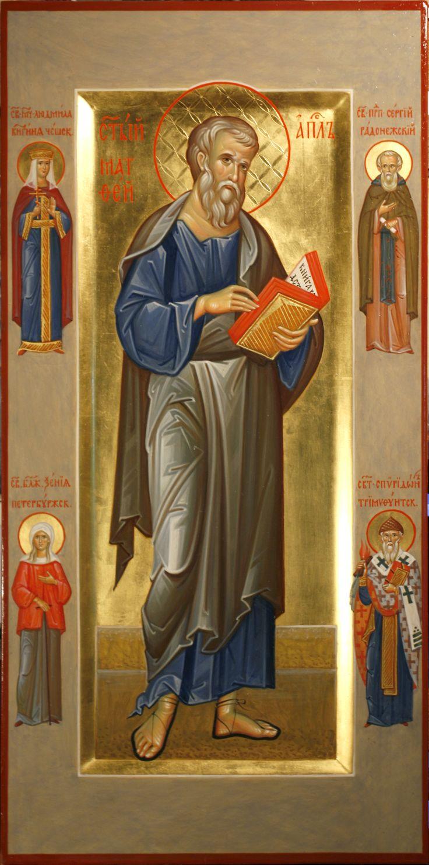 St Matthew the Evangelist, Sts Alexandra Tsarina,  Sergii of Radonezh, Xenia of Petersburg & Spyridon of Tremithus / 0_ae409_9b9ad150_orig (1980×3990)