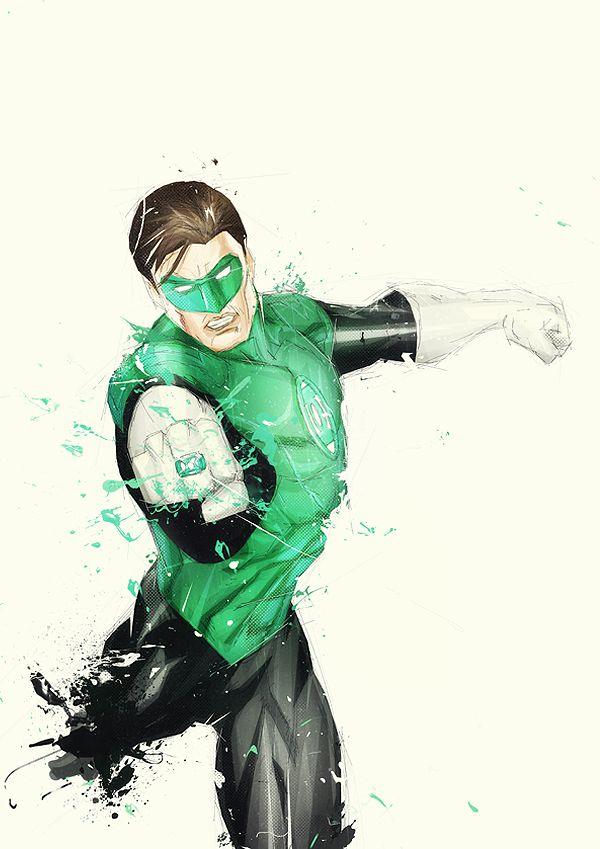 Justice League digital art by French artist Boingflo - Green Lantern
