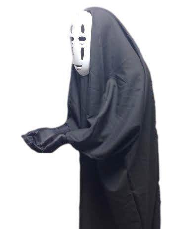 千と千尋の神隠し カオナシ 風 衣装セット (衣装、マスク、手袋) コスチューム 男女共用 フリーサイズ_ノーブランド_通販_ Amazon|アマゾン