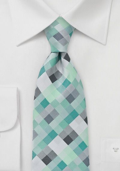 Diamond Tie in Mint Greens How prefect of a tie is this for my young Minecraft lover?! BowsnTies.com