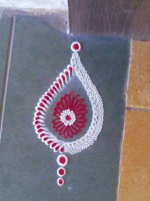 A small rangoli using pencil