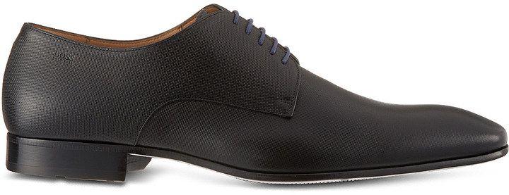 Hugo Boss Prindo Leather Derby Shoes, Men's, Size: EUR 40 / 6 UK MEN, Black