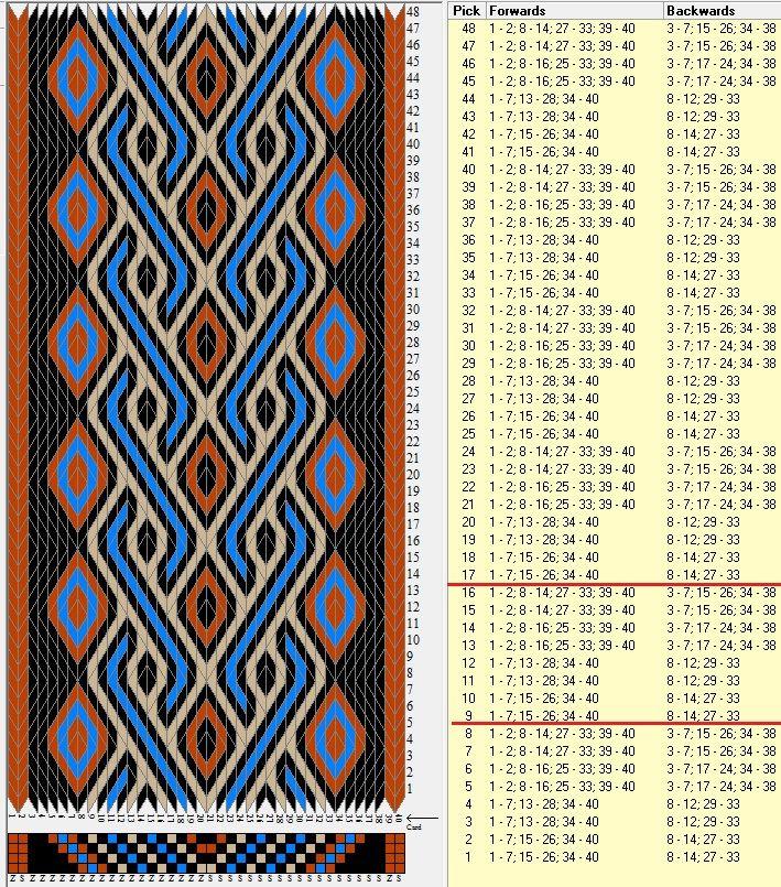 40 tarjetas, 4 colores, repite cada 8 movimientos // sed_146c diseñado en GTT༺❁