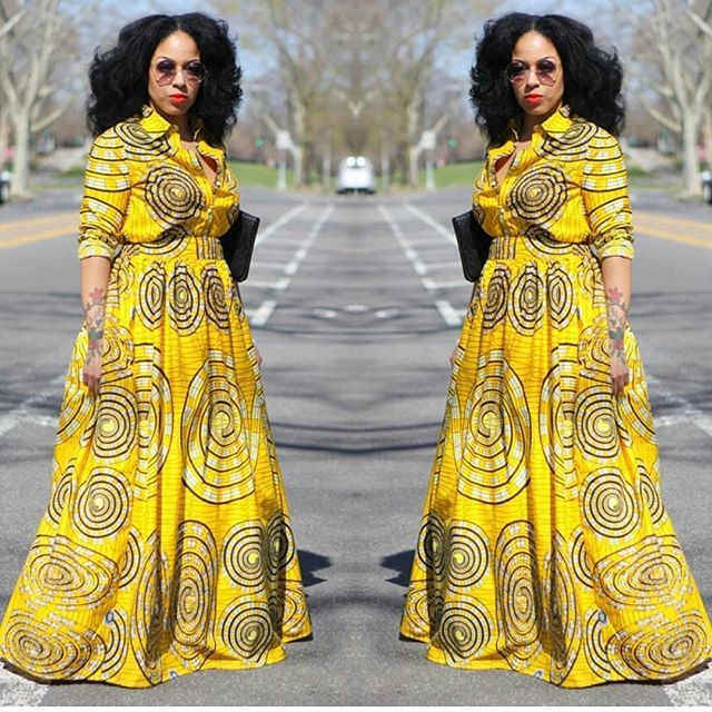 Y'HELLOW as bright as the sun. #tribalprints #maxidress #African Prints…