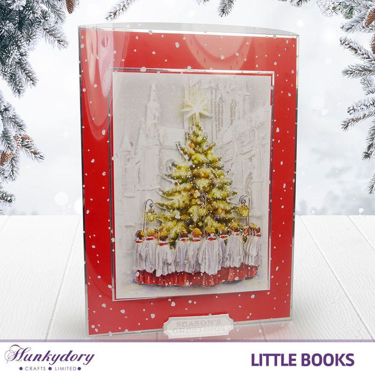 The use of Snowfall Acetate with this image really does give this card a lovely festive feel. This image is from The Little Book of Christmas Spirit.