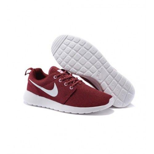 Nike Dámské - Levny Nike Roshe Run Dámské Běžecké Boty Wine Bílý 1380