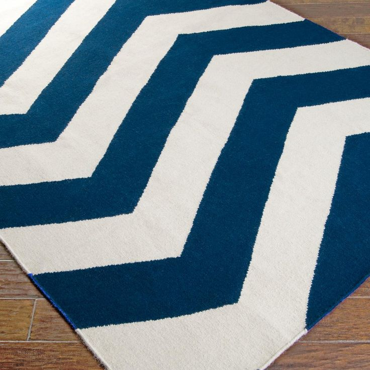 Zig Zag Chevron Dhurrie Rug   Navy 8 X 11 $699 Also Comes In Runner!