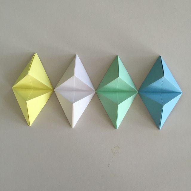 Fun geometric origami wall art tutorial.