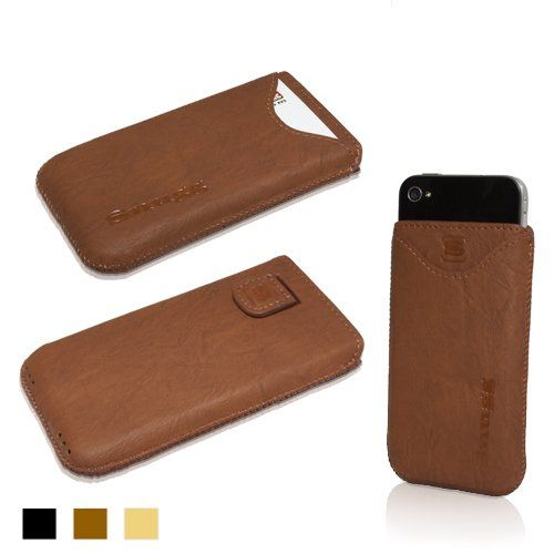Snugg iPhone 4 / 4S Leather Case in 'Distressed' Brown - Pouch with Card Slot, Elastic Pull Strap and Premium Nubuck Fibre Interior for the Apple iPhone 4 / 4S Snugg http://www.amazon.com/dp/B0091T56BY/ref=cm_sw_r_pi_dp_Y3Qnub19VVVM8