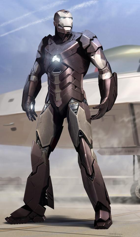 Concept art de Iron Man 3 (2013) por Phil Saunders, Stealth Armor