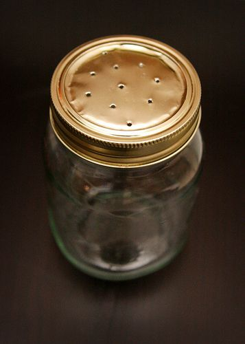 lightening bug jar with breathing holes made with icepick- no one worried we would fall and get hurt with these jars.