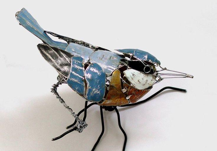 esculturas con material reciclado