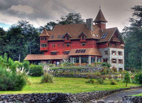 Hotel Petrohue. Lake Crossing trip Chile Argentina lake district area Chile