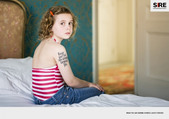 Campaign for 180/ SIRE :Children Do Not Separate A campaign to raise the awareness of the affects of divorce on children.