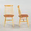 """ILMARI TAPIOVAARA, stolar, 4 stycken, """"Fanett"""", 1950-/1960-tal. - Bukowskis"""