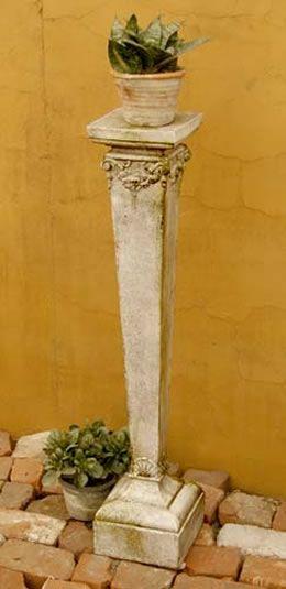 Narrow Pedestal Pedestal Small Sculptures Modern Planters